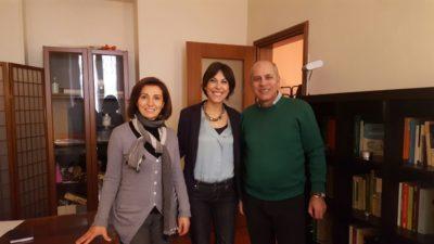 Gianni Palombi e Maria Rita Bonafede con la dottoressa Elisa Buratti