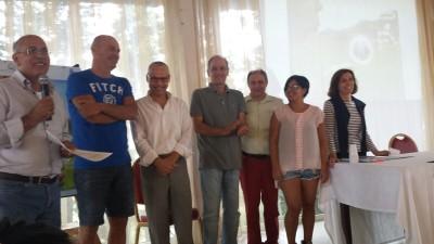 Da sinistra: Gianni Palombi, Marco Valeri, Luca Federici, Massimo Scodavolpe, Francesco Schiavello, Maribel Proto e Maria Rita Bonafede