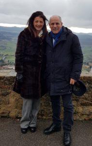 Gianni Palombi e Anna Maria Mattei, Presidente di Adottare Insieme.