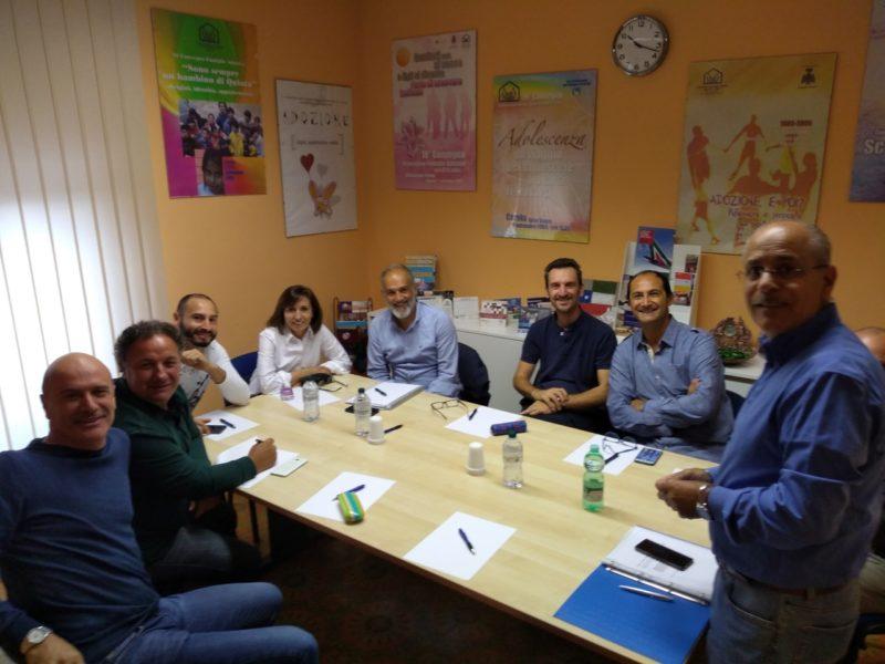 IL Consiglio Direttivo nella sala riunioni della sede di Roma.